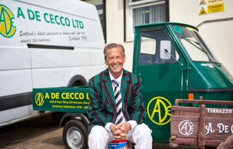 Alberto De Cecco celebrates 100 years of family business (photograph)